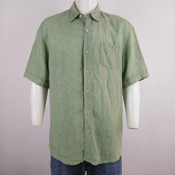 2e9a76093cb7 Tommy Bahama Relax 100% Linen men s shirt. M 5b3c0ca5aa5719dfed268d44